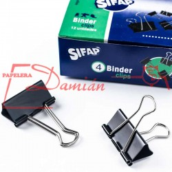 Aprieta papel Binder Nº4 41mm Super clip