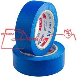 Cinta Papel Enmascarar Obra AUCA Azul Uv 36mm X50mt