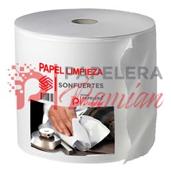Papel limpieza industrial blanco absorbente doble hoja x 25cm rollo 400 mt