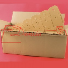 Etiquetas Manila Nº 4 54x105 caja x1000 unidades perforadas